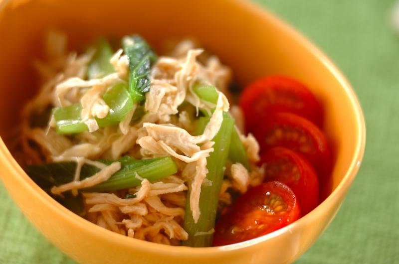 小松菜とささ身のポン酢和え