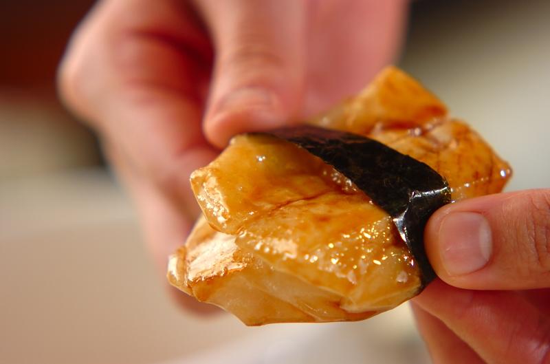 砂糖じょうゆの磯辺焼きの作り方の手順3