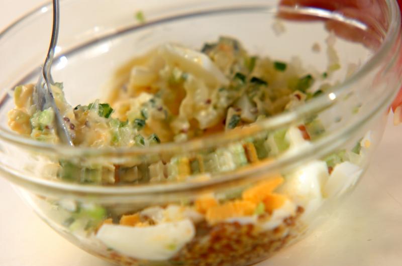 トマトと卵のサラダの作り方1