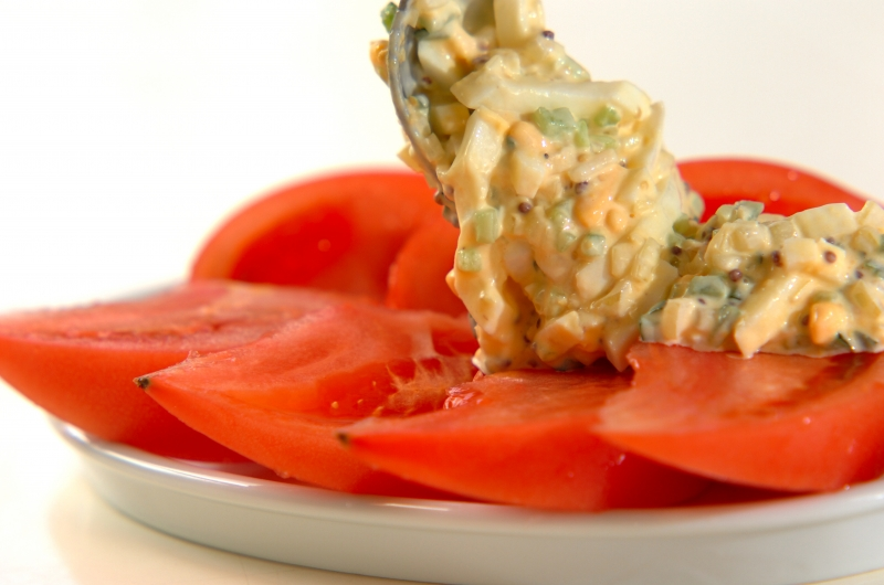 トマトと卵のサラダの作り方2