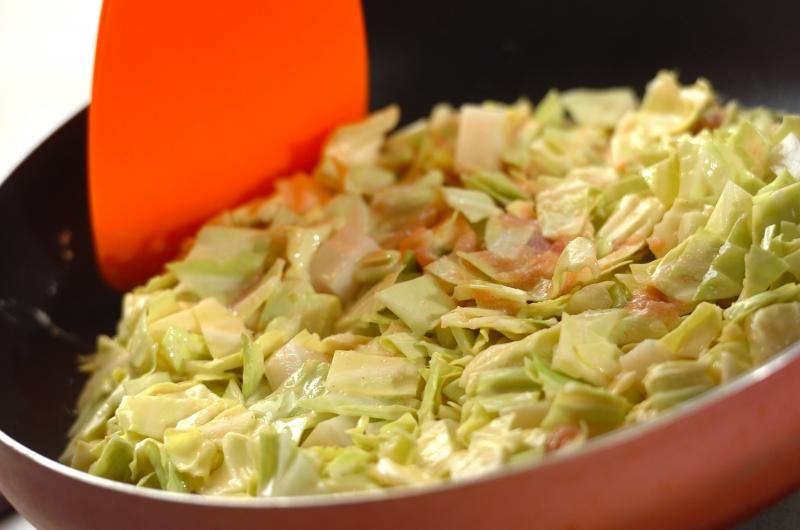めんたい餅お好み焼きの作り方の手順3