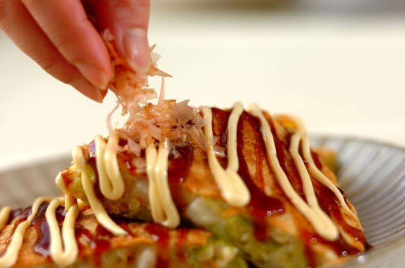 めんたい餅お好み焼きの作り方の手順4