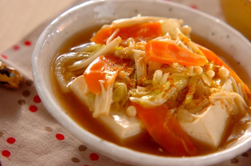 豆腐のたっぷり野菜あんかけの作り方の手順