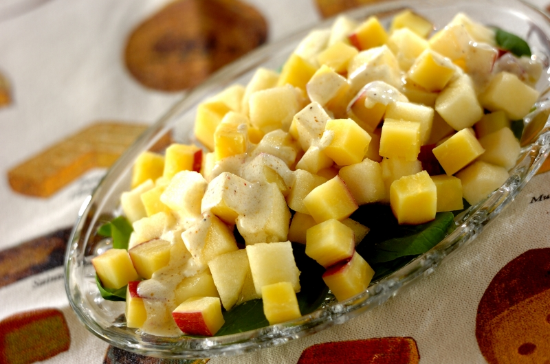 秋のサラダ