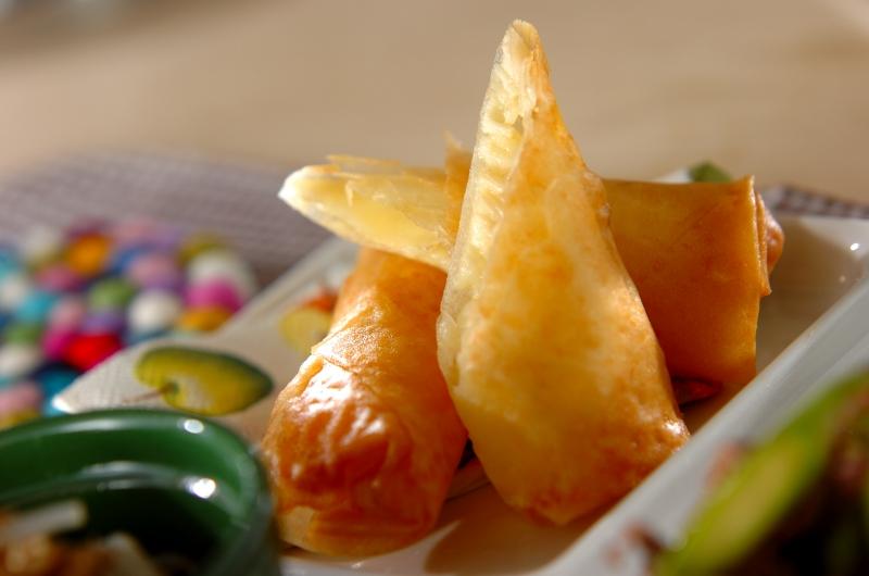 エノキとチーズの春巻き