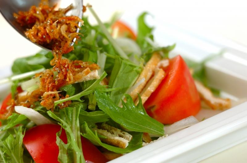シャキシャキ水菜サラダの作り方の手順7