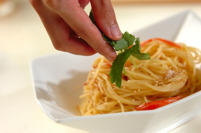 ミョウガのサッパリ冷製パスタの作り方の手順6