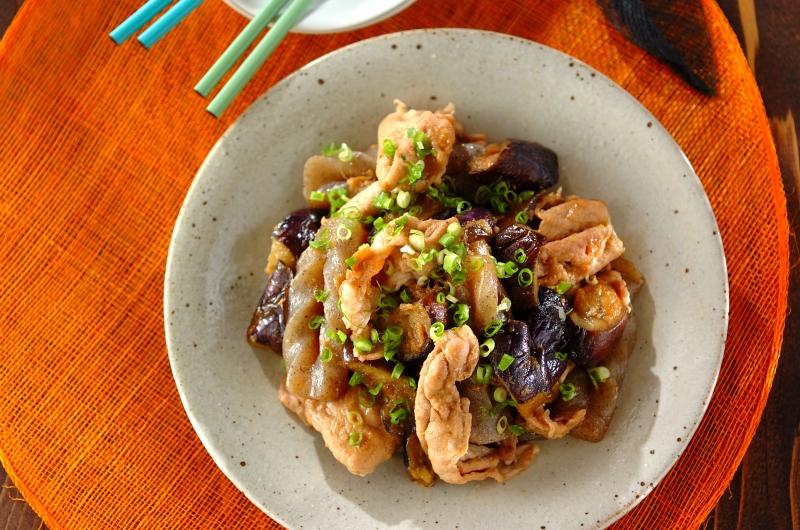 ナスと豚肉のショウガ炒め煮