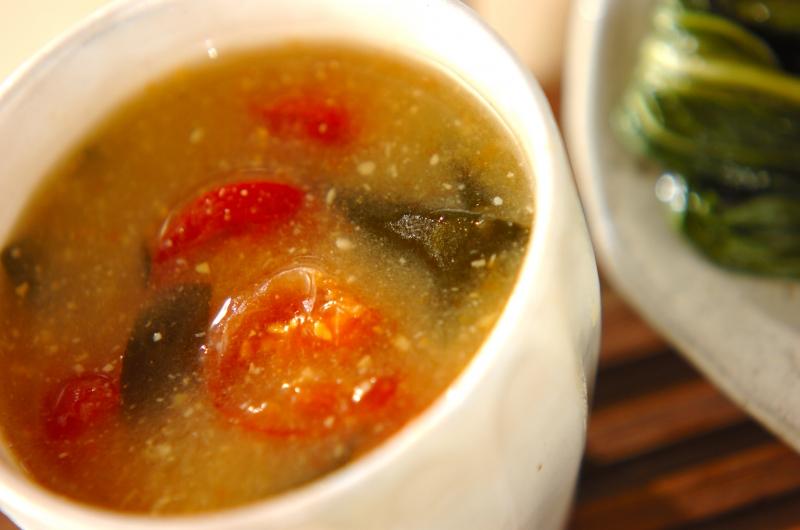 プチトマトのみそ汁の作り方の手順