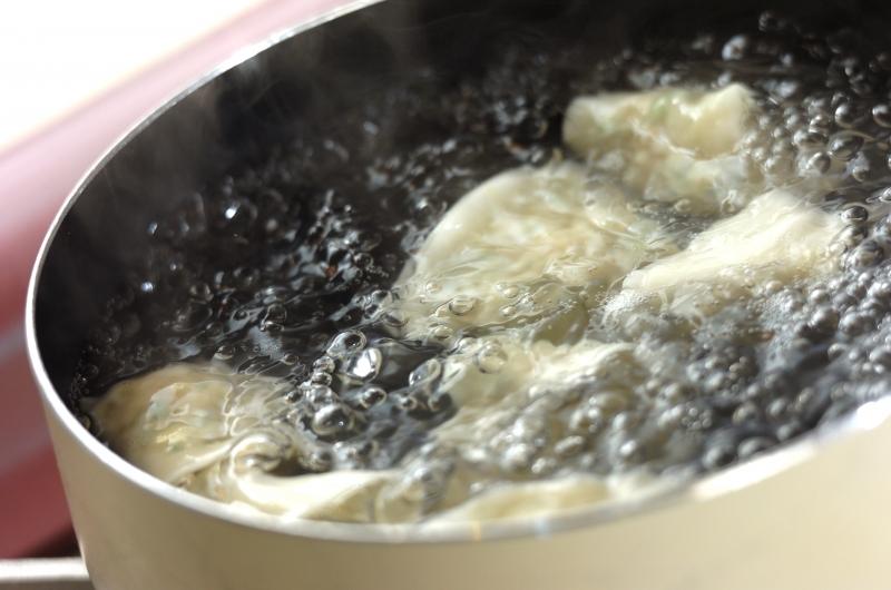 ゆで餃子の作り方4
