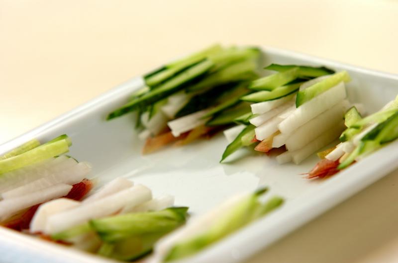 サラダ生春巻きの明太ソースの作り方の手順1