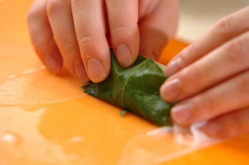 サラダ生春巻きの明太ソースの作り方の手順2
