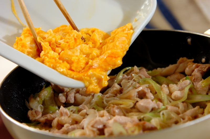 鶏とネギの炒めものの作り方3