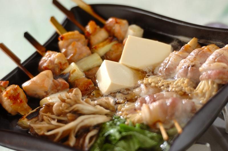 野菜と肉を一串で!焼き鳥串鍋