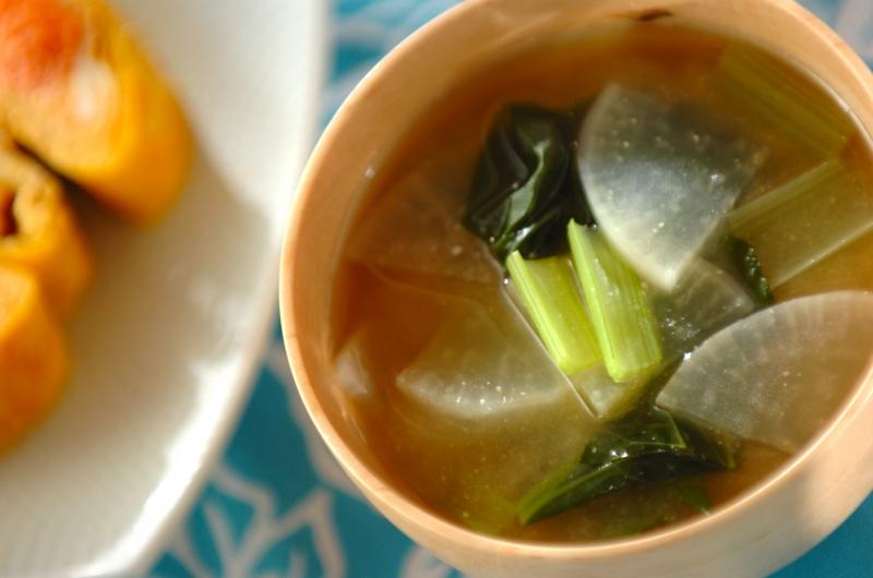 大根と小松菜のみそ汁