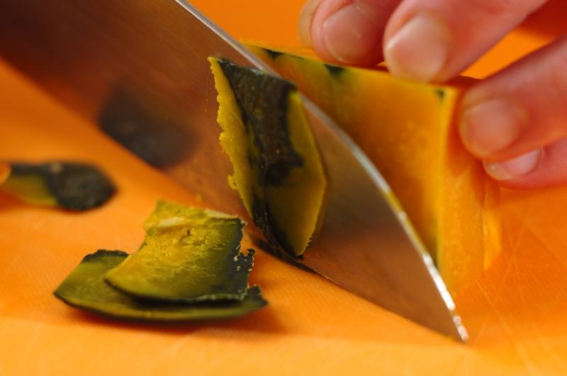 フライパンで作る!簡単カボチャのプリンの作り方の手順1