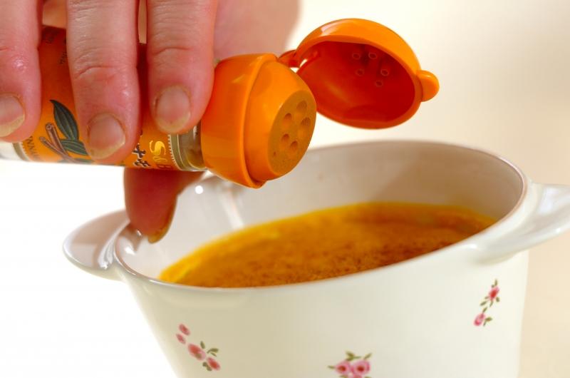 フライパンで作る!簡単カボチャのプリンの作り方の手順7