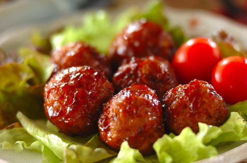 肉団子の照り焼きの作り方の手順