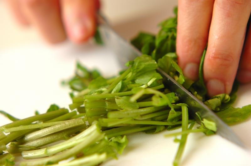 クレソンとベーコンのサラダの作り方の手順1