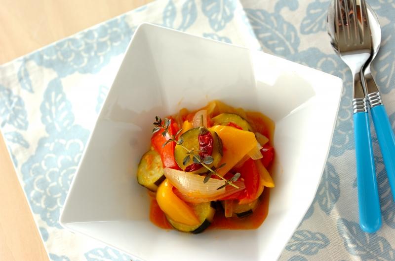 ズッキーニとトマトの煮込みの作り方の手順