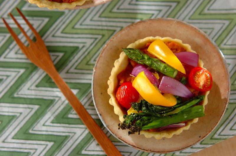 春野菜のタルトの作り方の手順