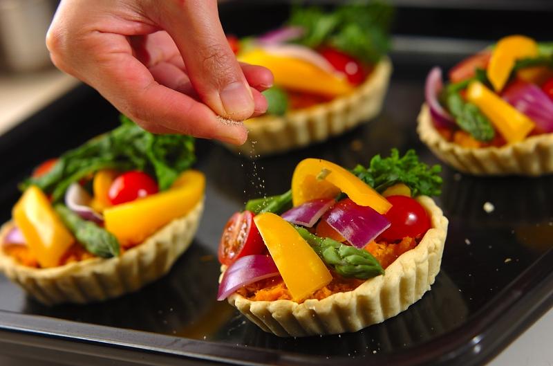 春野菜のタルトの作り方の手順6