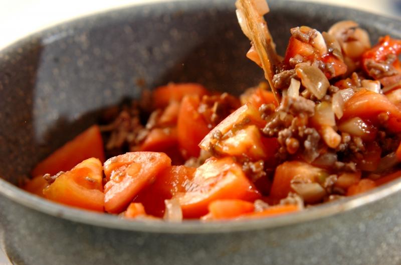ざく切りトマトのジューシーグラタンの作り方の手順3
