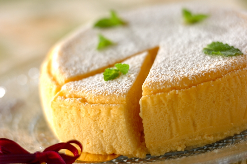 ふわふわ豆腐のスフレチーズケーキ