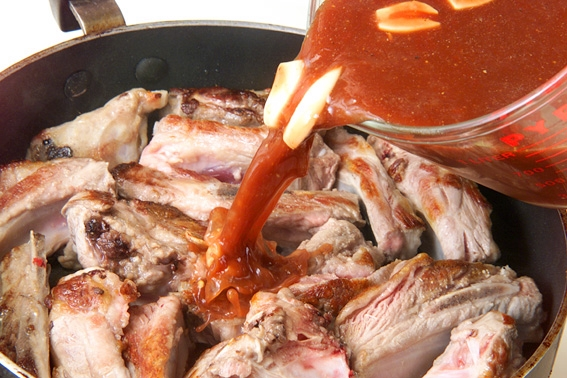 スペアリブトマトソースの作り方の手順5