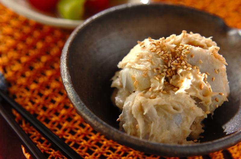 里芋のとも和えの作り方の手順