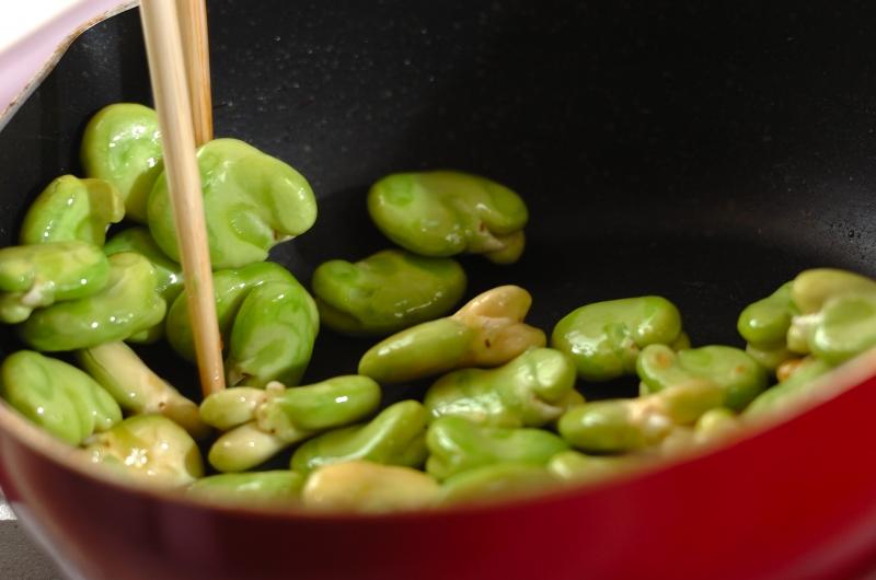 ソラ豆とシラスごはんの作り方の手順3