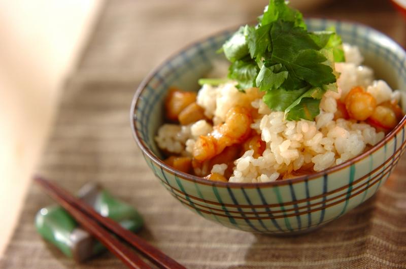 エビとレンコンの混ぜご飯の作り方の手順