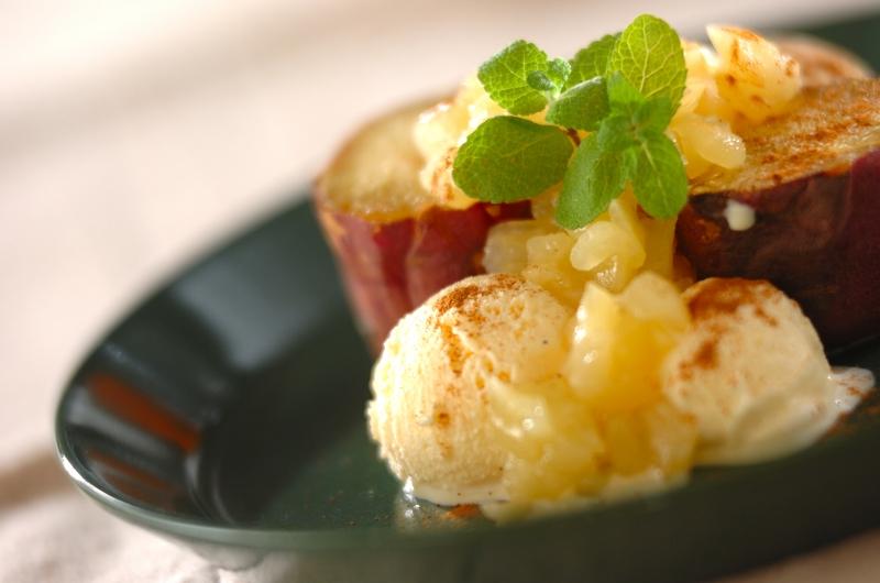 焼き芋のリンゴソース