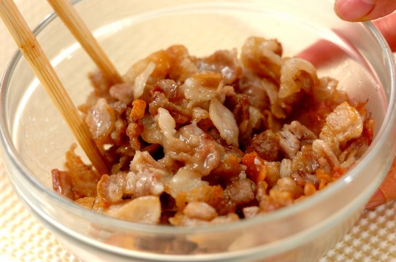 豚バラ肉の塩麹和えの作り方2