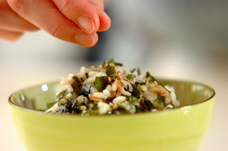 ワカメとツナの混ぜご飯の作り方の手順3
