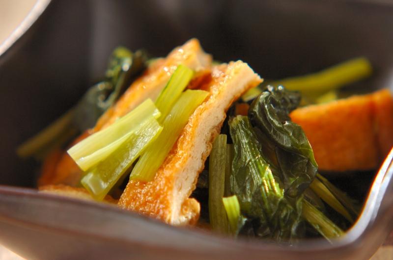 小松菜と油揚げのだし浸しの作り方の手順