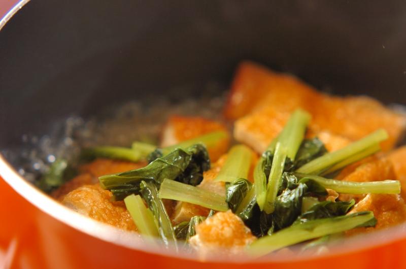 小松菜と油揚げのだし浸しの作り方の手順3