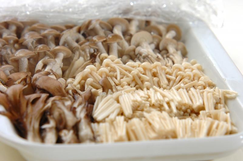 ピリ辛キノコのナムルの作り方1