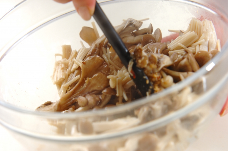 ピリ辛キノコのナムルの作り方2