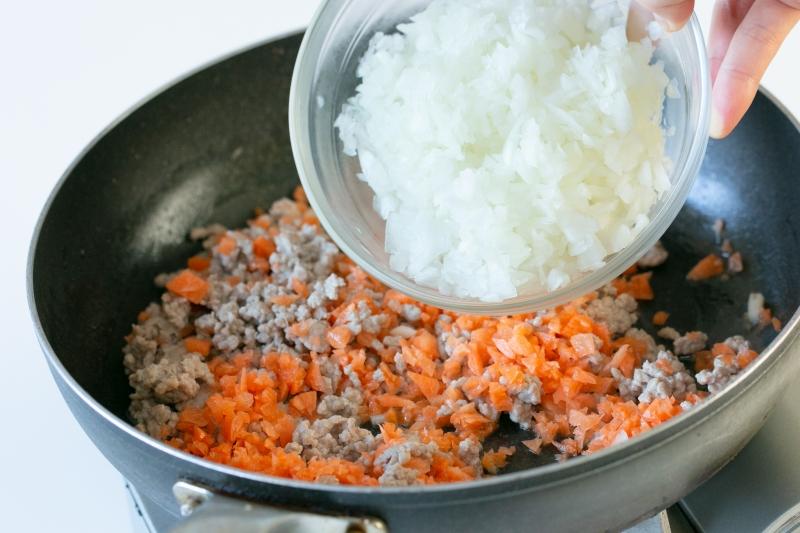 ひき肉と豆のチリコンカン風の作り方の手順2