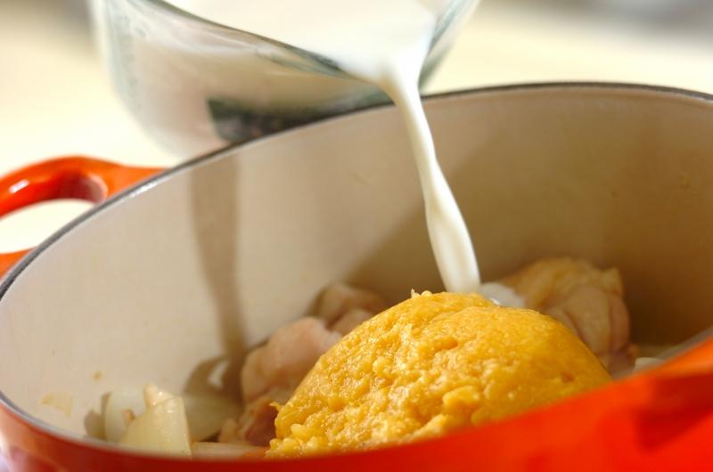 チキンとブロッコリーのコーンシチューの作り方の手順5