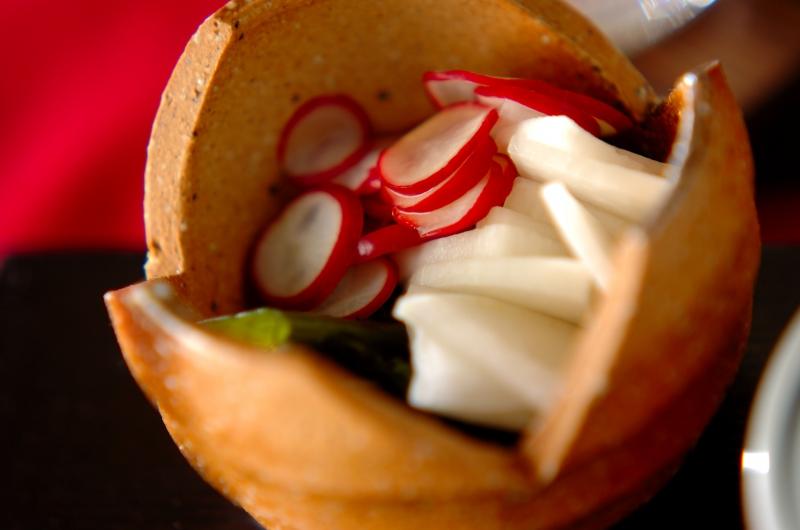 ラディッシュとワカメの酢のものの作り方の手順