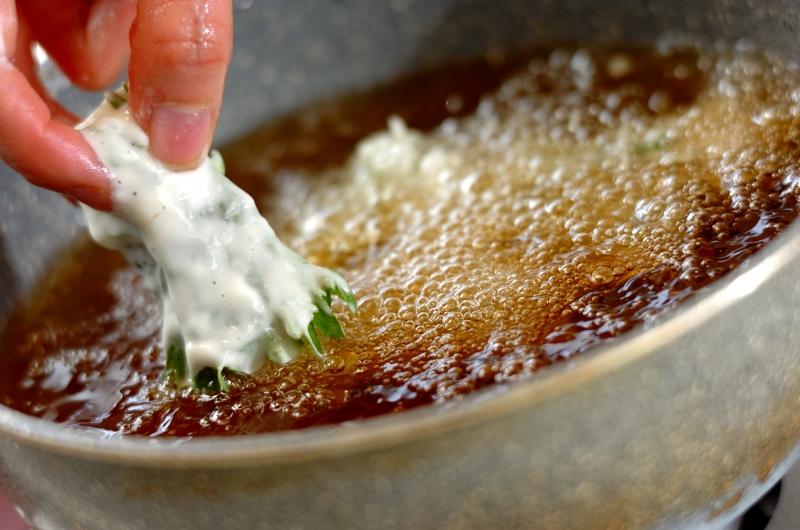 長芋の大葉梅揚げの作り方1