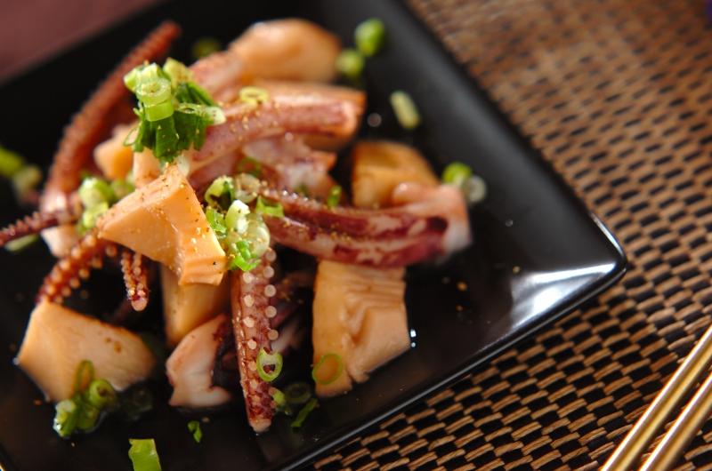 イカゲソの炒め物の作り方の手順
