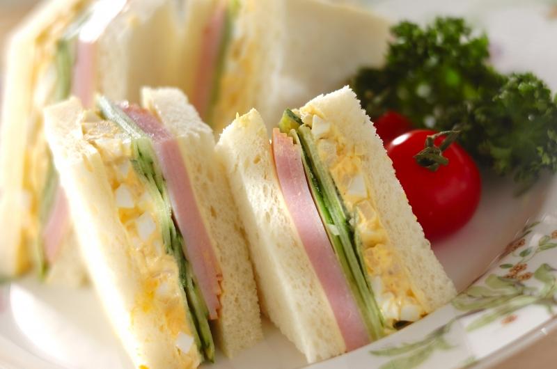 タケノコとハムのサンドウイッチ