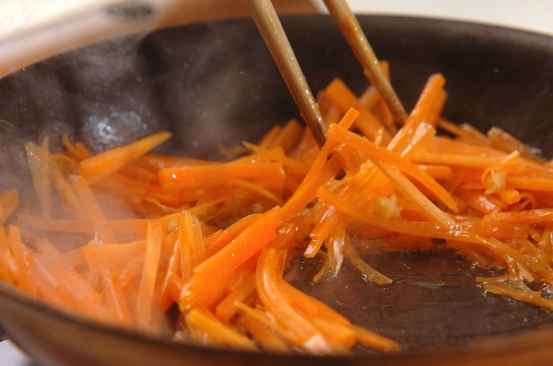 鮭とシラスの和風ビビンバの作り方の手順5