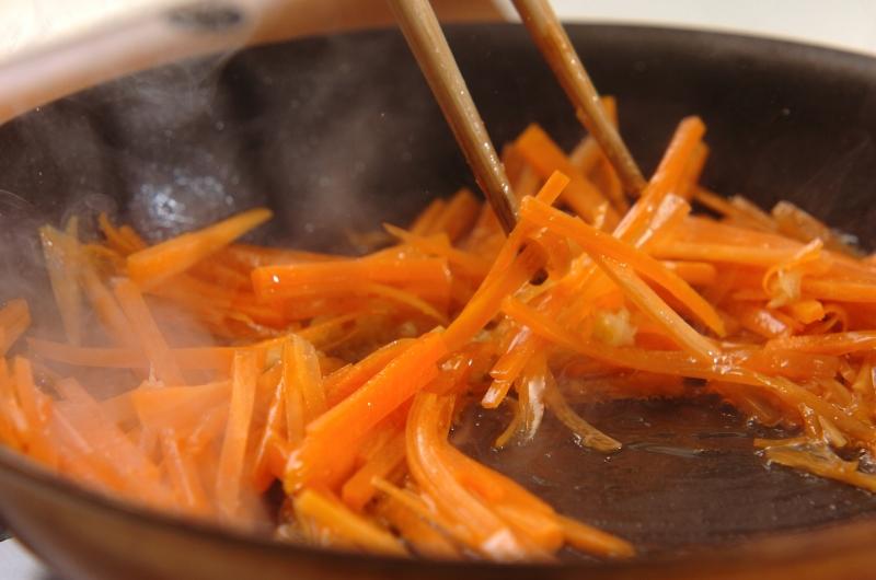 鮭とシラスの和風ビビンバの作り方2