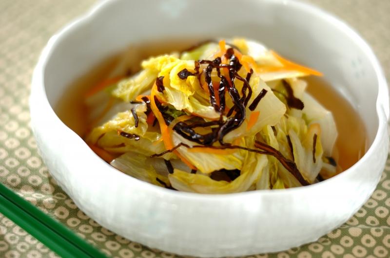 白菜の塩昆布煮