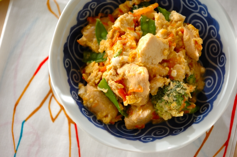 炒り鶏豆腐の作り方の手順