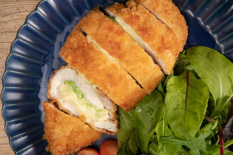 レシピ チーズ チキンカツ より簡単大盛りに!ミラノ風マスタードチーズチキンカツ(糖質1.6g)